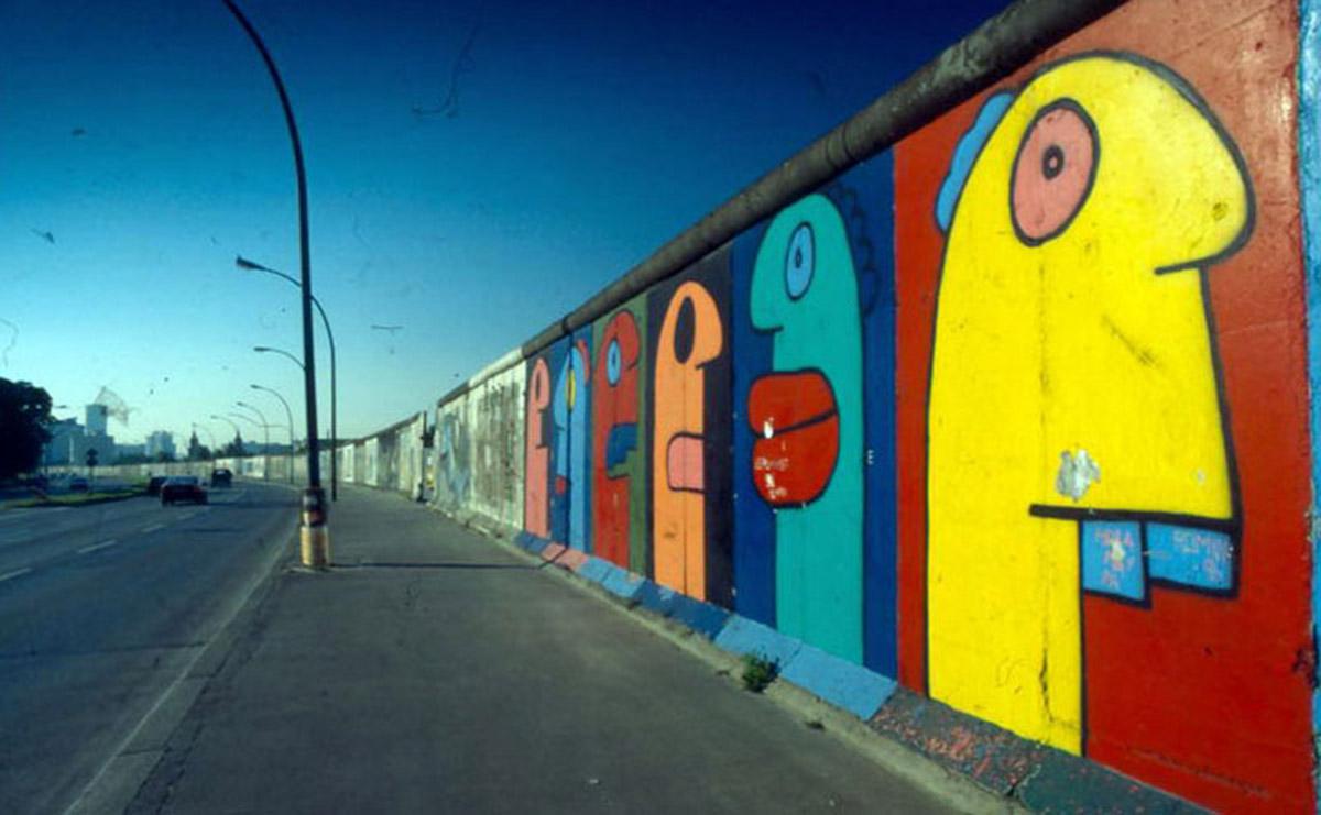 Thierry Noir - Berlin Wall - 1980s