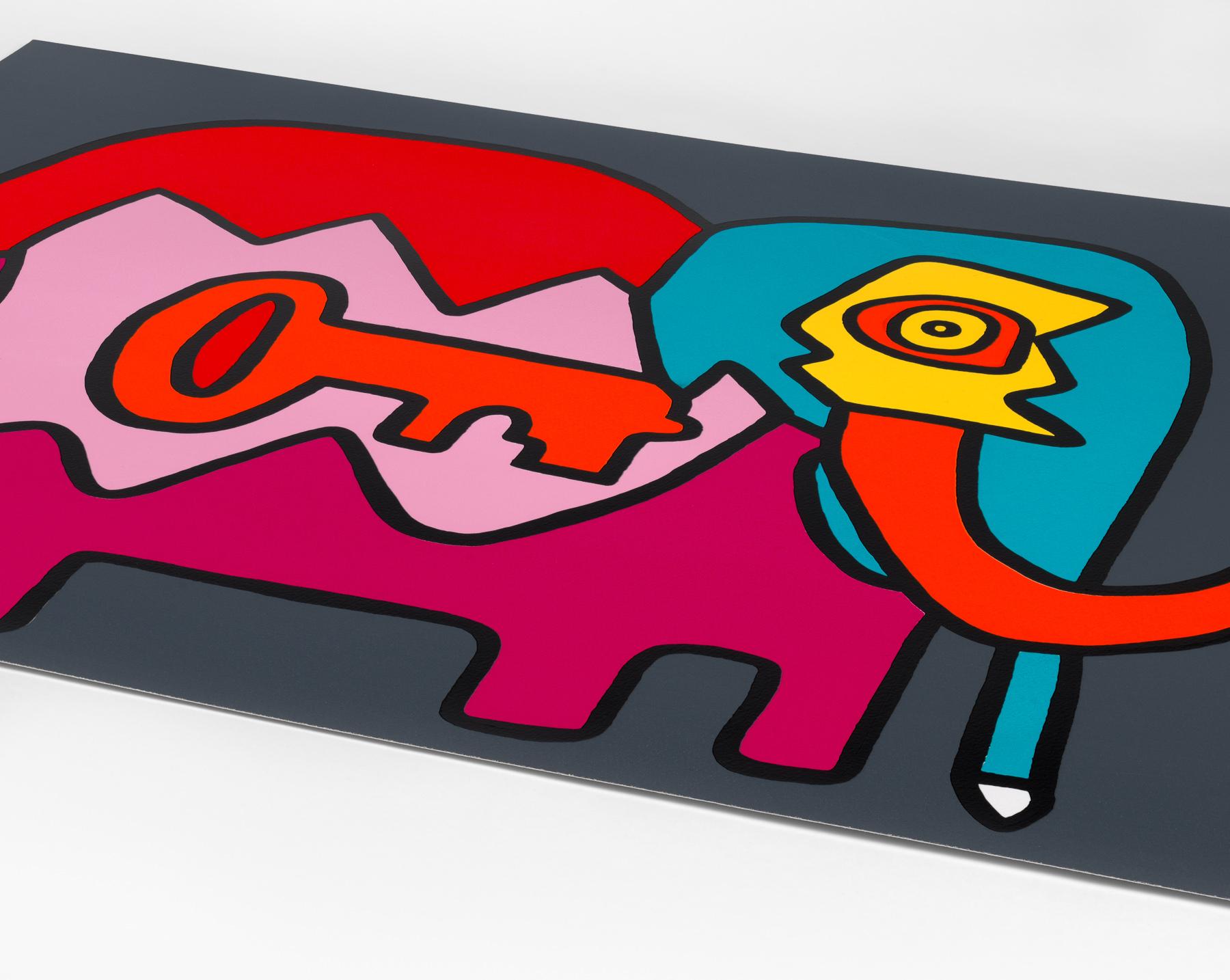 Thierry Noir - Elephant Key (Dark) (Detail)