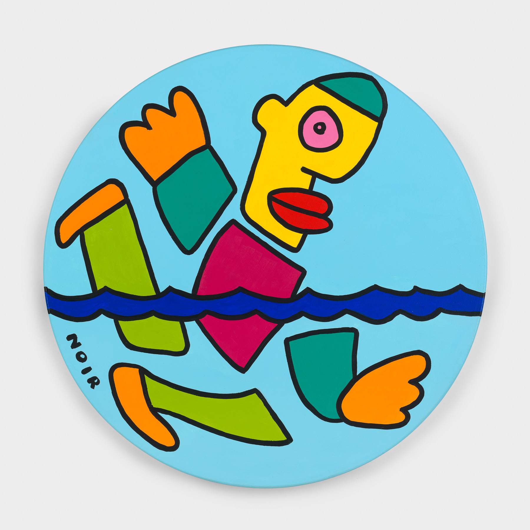 Thierry Noir-Gold-Swimming Freestyle-Front